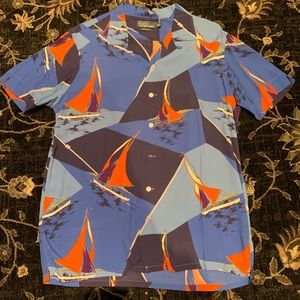 Polo Ralph Lauren Vintage Shirt All Over Print Med